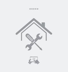 House repair services - web icon vector