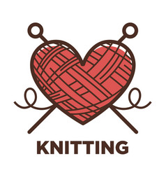 Knitting wool clew icon for knit craft vector