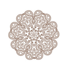 Mandala art round ornament vector