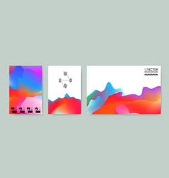 Marble landscape trendy backgrounds vector