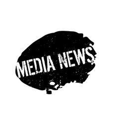 Media news rubber stamp vector