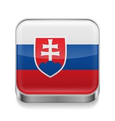 Metal icon of Slovakia vector