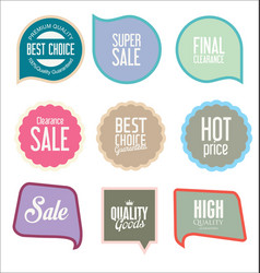 modern sale stickers collection 3 vector image