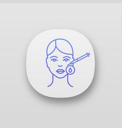 Neurotoxin injection area disinfection app icon vector