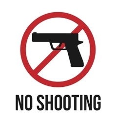 No shooting icon vector image