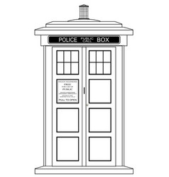 Old fashioned british police box vector