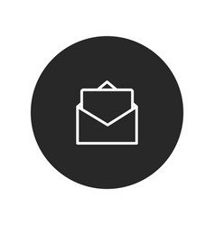 Open envelope with letter icon vector