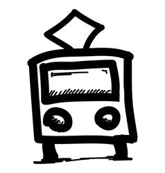 Public transport pictogram vector