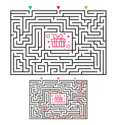 rectangular maze labyrinth game for kids vector image