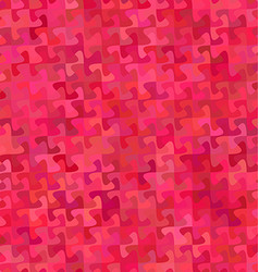 Red abstract puzzle pattern background design vector image