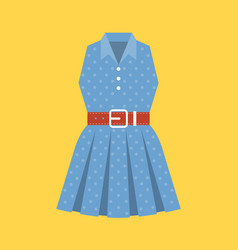 retro polka dot woman dress vector image