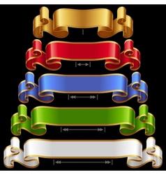 Ribbons set 12 vector
