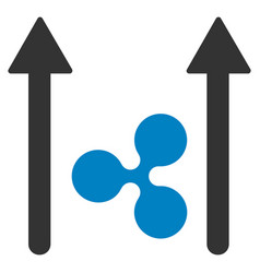 ripple send arrows flat icon vector image