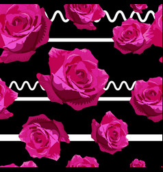Rose pattern modern-01 vector