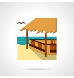 Sea terrace flat color design icon vector image