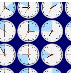 Seamless clocks vector image