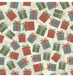 Seamless pattern gifts vector image
