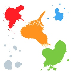 Set of colorful blots vector