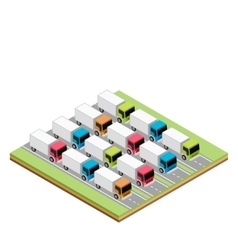 Set of isometric trucks vector image