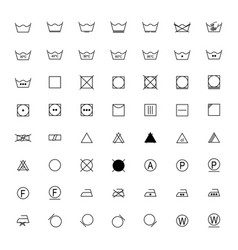 set of laundry symbols vector image