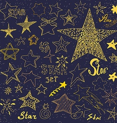 Star sketch Doodles hand drawn vector image