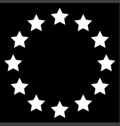 Stars in circle icon vector