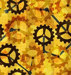 steampunk cogwheel grunge seamless vector image