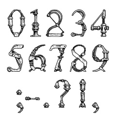 steampunk font vector image