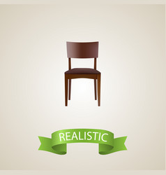 Stool realistic element of vector