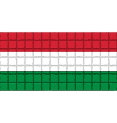 The mosaic flag of Hungary vector
