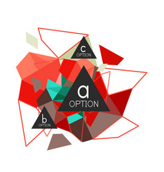 triangle infographics design layout vector image