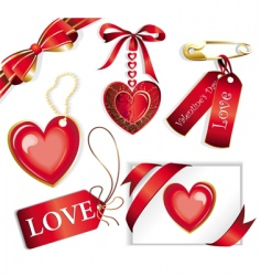 vector set with valentines sig vector image