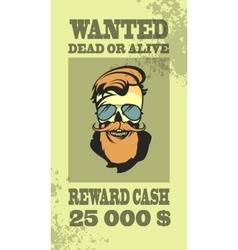 Ads sought bandit vector image