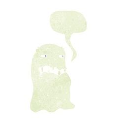 cartoon gross ghost with speech bubble vector image