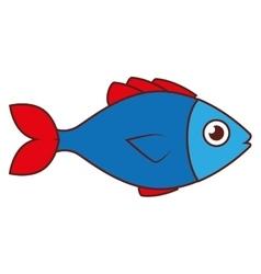 fish sea wildlife food icon isolated vector image vector image