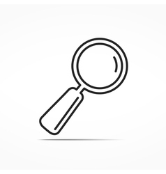 Magnifying Glass Line Icon vector image vector image