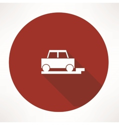 parked car icon vector image