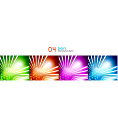 set of shiny abstract backgrounds vector image