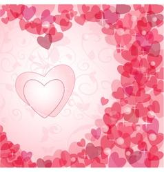 vintage valentine postcard vector image vector image