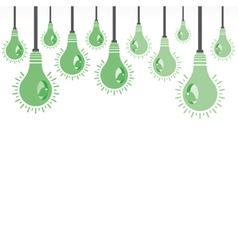 abstract green bulb nest bird vector image