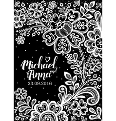 Black and White Lace vector image vector image