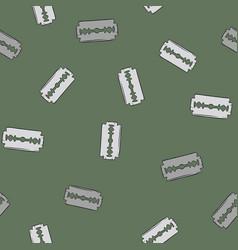 blade razor pattern in cartoon style seamless vector image