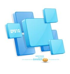 blue 3D panels vector image