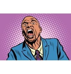 Emotional strong black man vector image