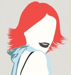 fashion face vector image vector image