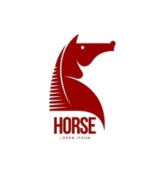 Horse head profile graphic logo template vector image vector image