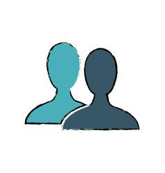 silhouette people avatar social media vector image