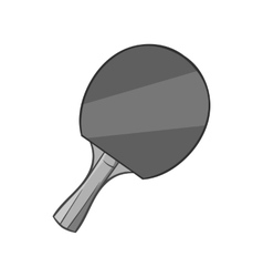 Table tennis racket icon black monochrome style vector image