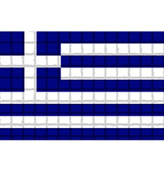 The mosaic flag of Greece vector image vector image