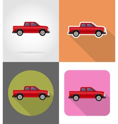 transport flat icons 52 vector image vector image